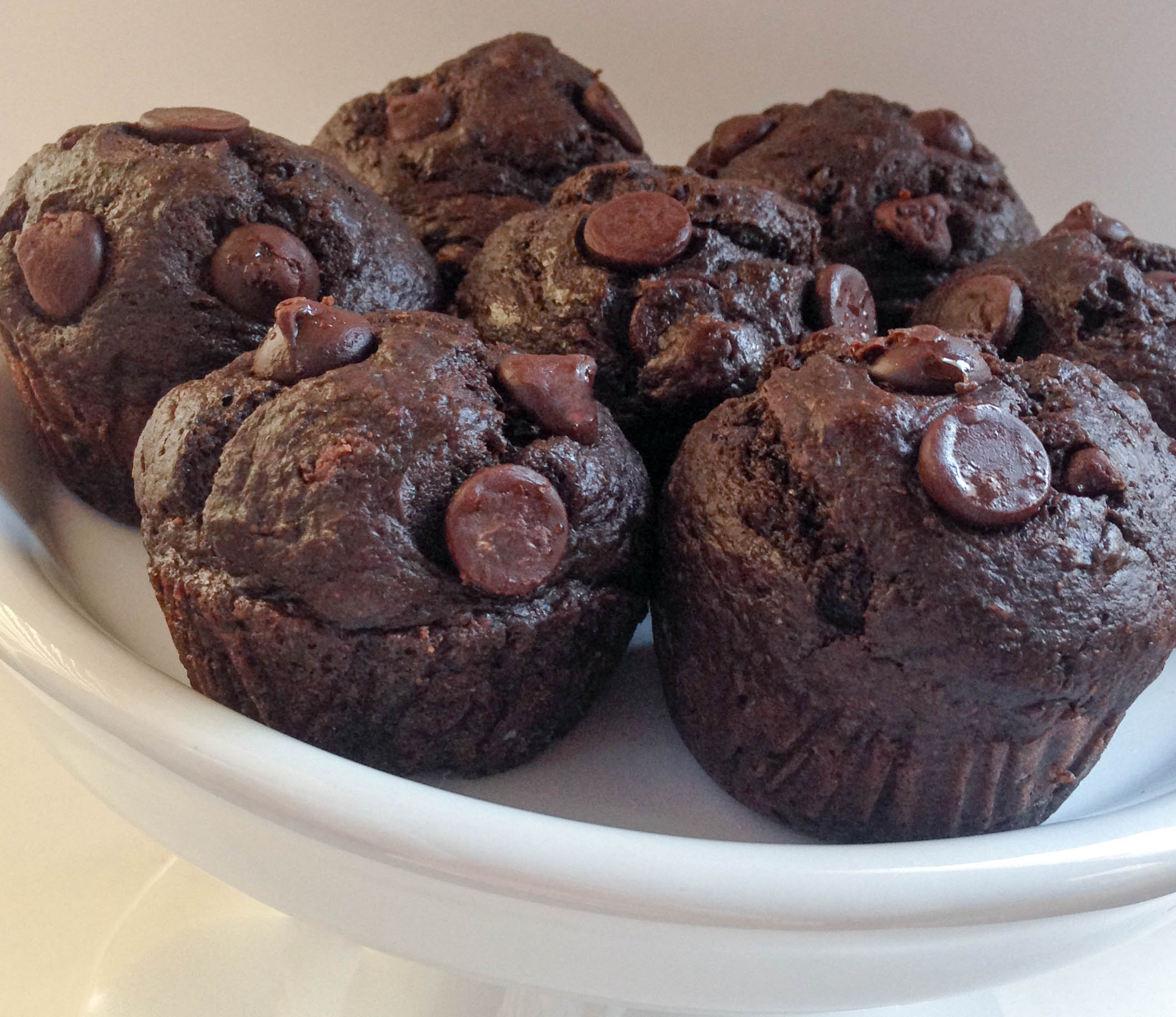 Double Chocolate Banana Muffins | Kiss My Casserole